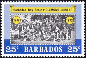 Barbados # 374 mnh ~ 25¢ Photograph of Scout Troop in 1922
