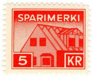 (I.B) Iceland Revenue : Savings Stamp 5Kr (Sparimerki)