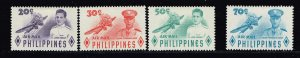 Philippines Stamp  1955 Airmail - Air Force Heroes MH/OG STAMPS SET