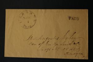 United States 'PAID' Envelope Lebanon Penn Nov 1 19thCentury