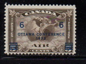 Canada Sc C4 1932 6c on 5 c Ottawa Conference airmail stamp mint