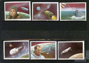 MANAMA 1968 Mi#115-120B SPACE SET OF 6 STAMPS IMPERF. MNH
