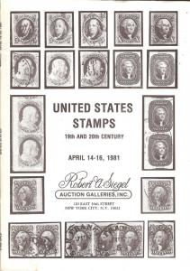 United States Stamps 19th & 20th Century , Robert A. Sieg...