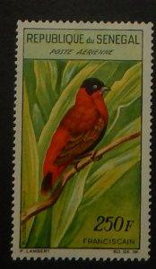 Senegal C29. 1963 250Fr Red Bishop