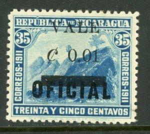Nicaragua 1914 Liberty Overprint 1¢/35¢ Shifted OP Mint H380