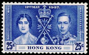 HONG KONG SG139, 25c blue, M MINT. Cat £13.