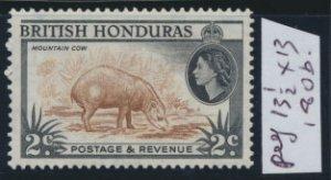 British Honduras SG 180b SC # 145b MNH  perf 13½ x 13  Mountain Cow  see scan