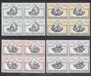 Vatican City #C55-C58  St. Matthew  Blocks of 4 (MNH) CV$9.40
