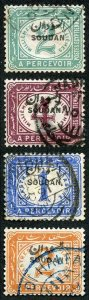 Sudan SGD1/4 1897 Post Due set of Four