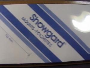 SHOWGARD MOUNTS # 50--215MM LONG x 50MM WIDE---15 STRIPS---BLACK /NEW
