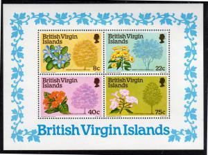 VIRGIN ISLANDS #341a  1978  FLOWERING TREES   MINT VF NH O.G  S/S