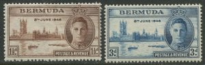 STAMP STATION PERTH Bermuda #131-132 Peace Issue MVLH 1946