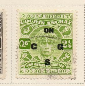 Indian States Cochin 1933-35 Early Issue Fine Used 2.25a. Optd 084231