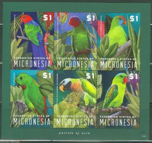 MICRONESIA 2014 PARROTS OF ASIA  SHEET   MINT NH