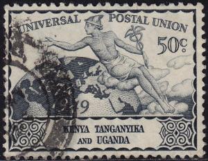 Kenya Uganda Tanzania - 1949 - Scott #95 - used - UPU