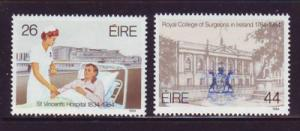 Ireland Sc 589-0 1984 Surgeons Hospital stamps mint NH