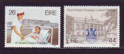 Ireland Sc 589-0 1984 Surgeons Hospital stamps mint NH