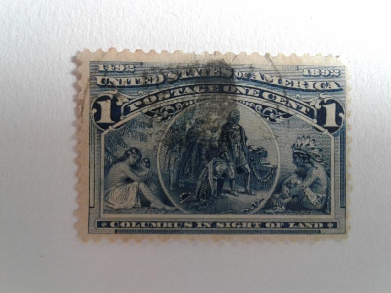 SCOTT # 230 USED ONE CENT COLUMBIAN EXPO 1898 !!
