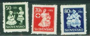 Slovakia Slovenska Scott B11-3 1943 semi postals