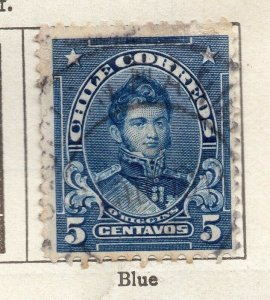 Chile 1911 Early Issue Fine Used 5c. NW-11439