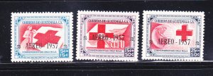 Guatemala CB8-CB10 Set MNH Red Cross (A)