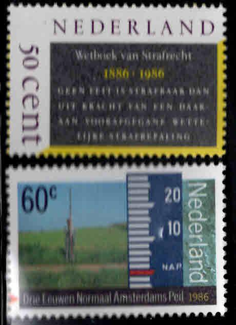 Netherlands Scott 676-677 MNH** 1986 set
