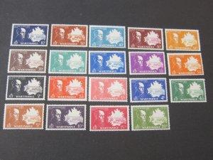 French Mauritania 1945 198-216 set MNH