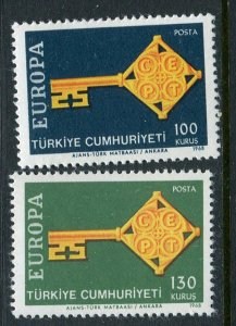 Turkey #1775-6 MNH
