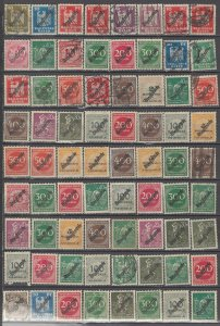 COLLECTION LOT OF #1155 GERMANY  72 OFFICIAL STAMPS 1923+ CV+$20
