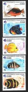 Cuba. 1995. 3811-16 from the series. Fish, fauna. MNH.