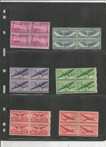 US AIRMAIL BLOCK OF 4 COLLECTION, MNH, OG