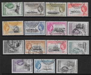 FALKLAND IS.DEP. SGG26/40 1954 DEFINITIVE SET USED