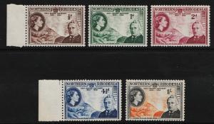 Northern Rhodesia 1953 Cecil Rhodes Centenary (5/5) MNH