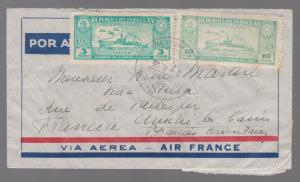1935 Paraguay Graf Zeppelin Cover to Pyrenees France LZ 127