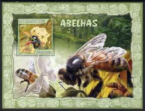 Mozambique MNH S/S Bees Insects 2007 BUZZZZZ!!!!!