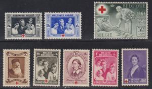 Belgium # B 233-240, Red Cross, LH, Half Cat