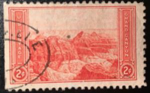 741 Grand Canyon, Circulated Single, Vic's Stamp Stash