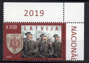 LATVIA - 2019 - MILITARY - ARMY - SOLDIERS - COAT OF ARMS -