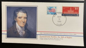US #2278,1543 On Cover - Bicentennial of Constitution 1787-1987 [BIC84]
