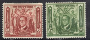 PHILIPPINES SC# 408-09 MH 1936  2c+6c   SEE SCAN