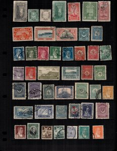 Turkey  41 diff mint  hinged and used
