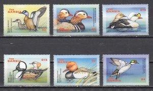 Gambia, Scott cat. 2496-2501. Water Birds issue. ^