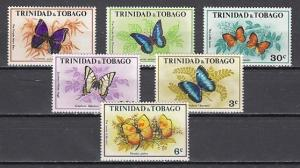 Trinidad, Scott cat. 210-215. Butterflies issue.