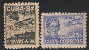1952 Cuba Stamps First Flight Key West-Havana Complete Set MNH