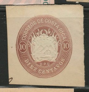 Costa Rica Postal Stationery Cut Out A17P5F839