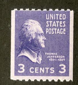 US 851 MNH $2.50 BIN $1.25 JEFFERSON