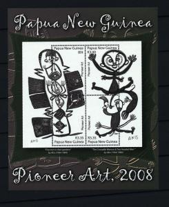 PAPUA 2008 Pioneer Art Mini Sheet MNH (Pap51cc
