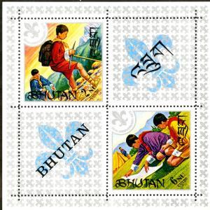 BHUTAN 139a S/S MNH SCV $4.50 BIN $3.00