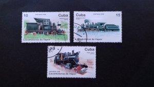 Cuba 1996 Steam Railway Locomotives Used