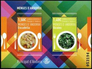 HERRICKSTAMP NEW ISSUES ANDORRA-SPANISH Sc.# 463 Gastronomy S/S